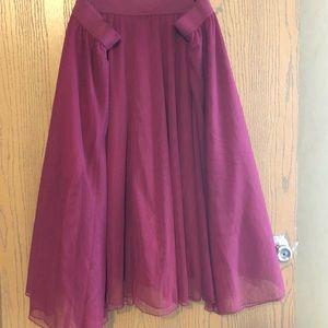 Torrid Burgundy Tulle Skirt